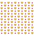 Valentines day seamless pattern background vector image