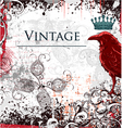 vintage ilustration with crow vector image vector image
