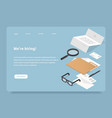 we are hiring landing page vector image vector image