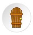Wooden garden door icon cartoon style vector image vector image