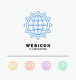 world globe seo business optimization 5 color vector image vector image