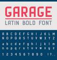 garage bold font vector image