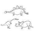 cartoon set 04 of ancient dinosaur monsters vector image