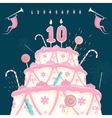 Number Candle and Cake vector image