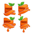 collection of bright and shine stickers emblems vector image