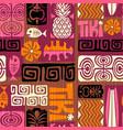 seamless retro tiki pattern vector image