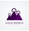 a mountains logo vector image