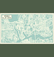 abidjan ivory coast city map in retro style vector image vector image
