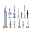 army guided flying weapon flat set vector image