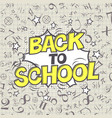 back to school formulas background comic retro vector image vector image