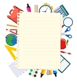 back to school theme background vector image vector image