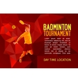 Badminton player with empty vector image vector image