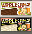 banners for apple juice vector image vector image