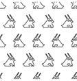 black line graphic rabbit regular seamless pattern vector image vector image