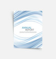 blue wave annual report cover template brochure vector image vector image