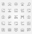 car insurance icons set vector image