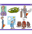 cartoon concepts and sayings set vector image vector image