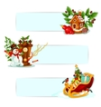 Christmas and New Year winter holidays banner set vector image vector image