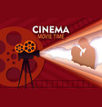 cinema movie time paper cut poster template vector image vector image