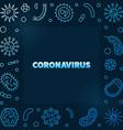 coronavirus concept modern blue linear vector image