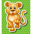 Cute little cub walking vector image vector image