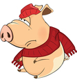 Cute Pig Cartoon Character vector image vector image