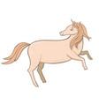 cute unicorn isolated on white background vector image
