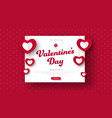 design red header for sale on valentines day vector image