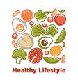dietary natural products with low calories contain vector image vector image