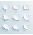 empty paper white speech bubbles vector image vector image