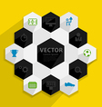 Flat design stylish concept with icons of soccer vector image vector image