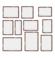 Frames glossy set vector image vector image