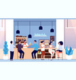 friends in beer bar flat people with glasses vector image
