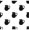 glass jug of milk icon in black style isolated on vector image vector image