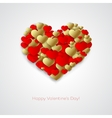Golden love heart vector image