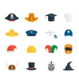 Icons hat set vector image