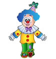 image of cartoon clown 1 vector image vector image