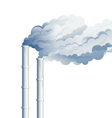 Industrial Chimney Smoke vector image