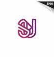 initial su logo monogram design template simple vector image vector image