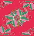 leaves on a pink green and neutral colors vector image vector image