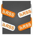 left and right side signs rss vector image vector image