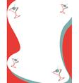 Martini border vector image vector image