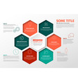 minimalist infographic report template with vector image vector image