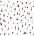 modern seamless pattern with crowd walking on vector image