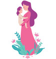 mother and child on white vector image vector image