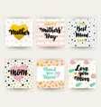 mothers day hipster trendy postcards vector image