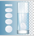 ound pills and glass vector image vector image