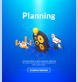 planning poster of isometric color design vector image vector image