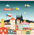 prague castle with buildings flat design vector image vector image