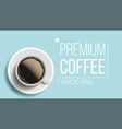 premium coffee background blue backdrop vector image vector image